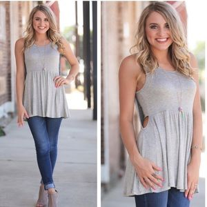 Infinity Raine | NWT Gray Sleeveless Tunic | S